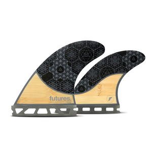Futures Rasta Quad Fin Set-Bamboo/Grey