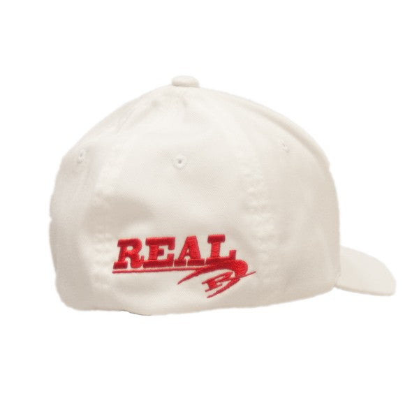 REAL Corp Flexfit Hat-White/Red