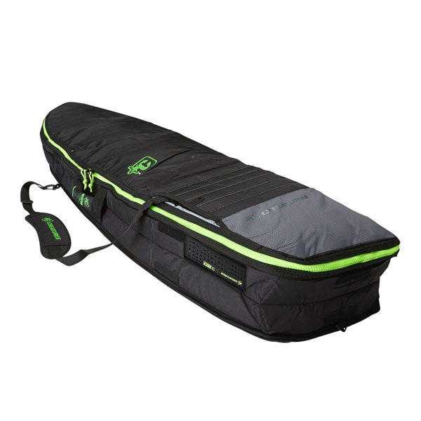 Creatures Retro Fish Double Bag-Charcoal Lime-7'1""