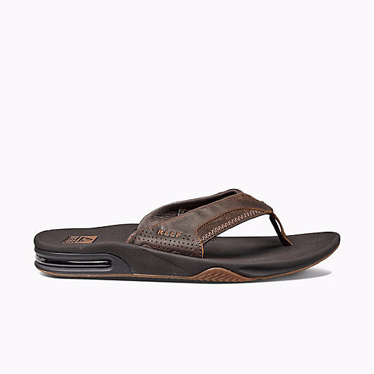 e86f48972b1c9a Reef Leather Fanning Sandal-Brown — REAL Watersports