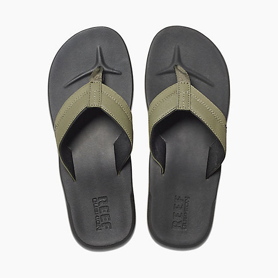 Reef Contoured Cushion Sandal-Black/Olive
