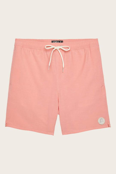 O'Neill Solid Volley Boardshorts-Hot Coral