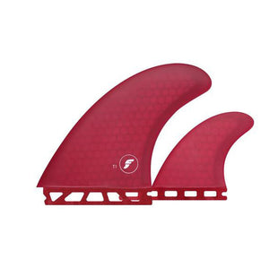 Futures T1 Honeycomb Twin + Stabilizer Fin Set- Red