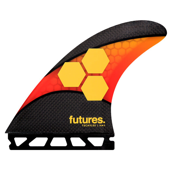 Futures AM2 Techflex Tri Fin Set-Orange/Red-Large