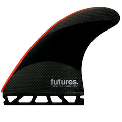 Futures John John 2 Techflex Tri Fin Set-Neon Red-Large