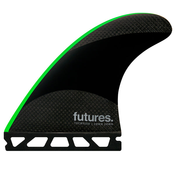 Futures John John 2 Techflex Tri Fin Set-Neon Green-Medium