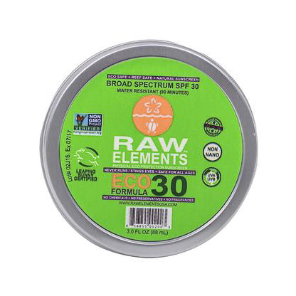 Raw Elements Sunscreen Tin-SPF 30