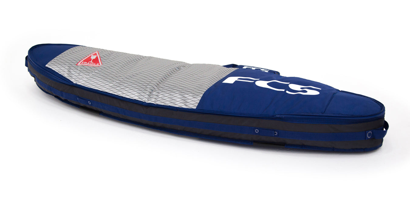 FCS Double Travel Cover Fun Board Bag-Deep Ink-6'7""