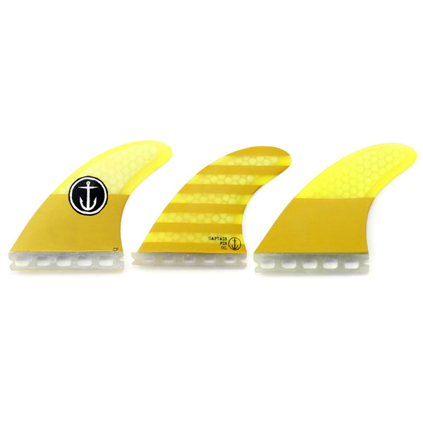 Captain Fin CF Futures Tri Fin Set-Small-Yellow