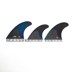 Futures Mayhem Honeycomb/Carbon Tri/Quad Fin Set-Blue-Large