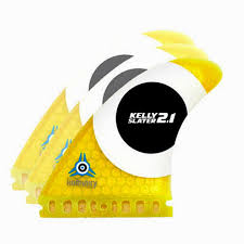 Komunity Kelly Slater 2.1 LDT Tri Fin Set-Yellow-Medium