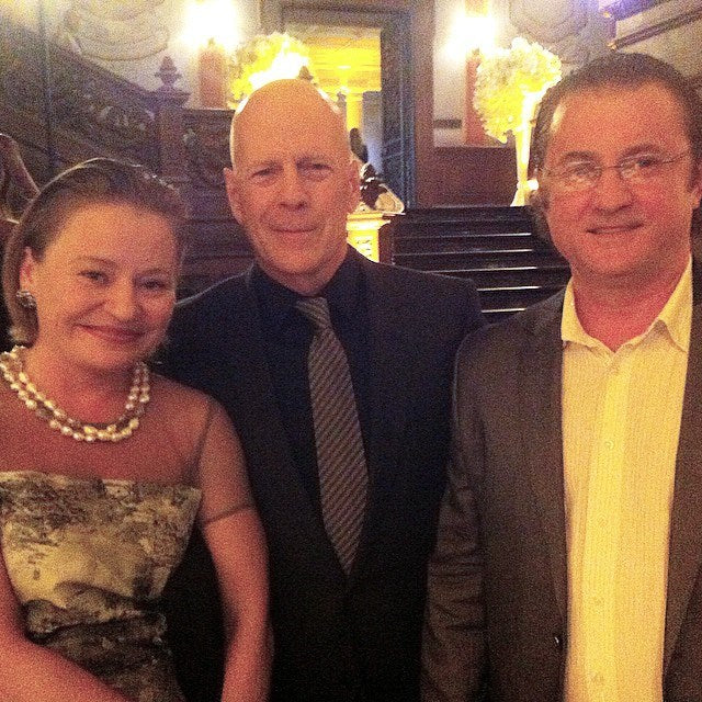 ALEX AND MARIA SOLIDER WITH BRUCE WILLIS