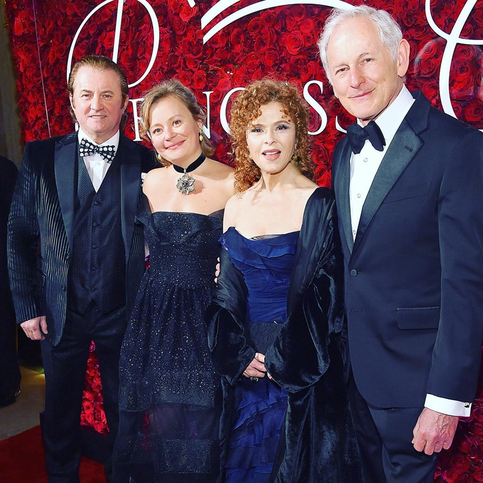 Alex & Maria Soldier, Bernadette Peters & Victor Garber attend the 2019 Princess Grace Awards Gala