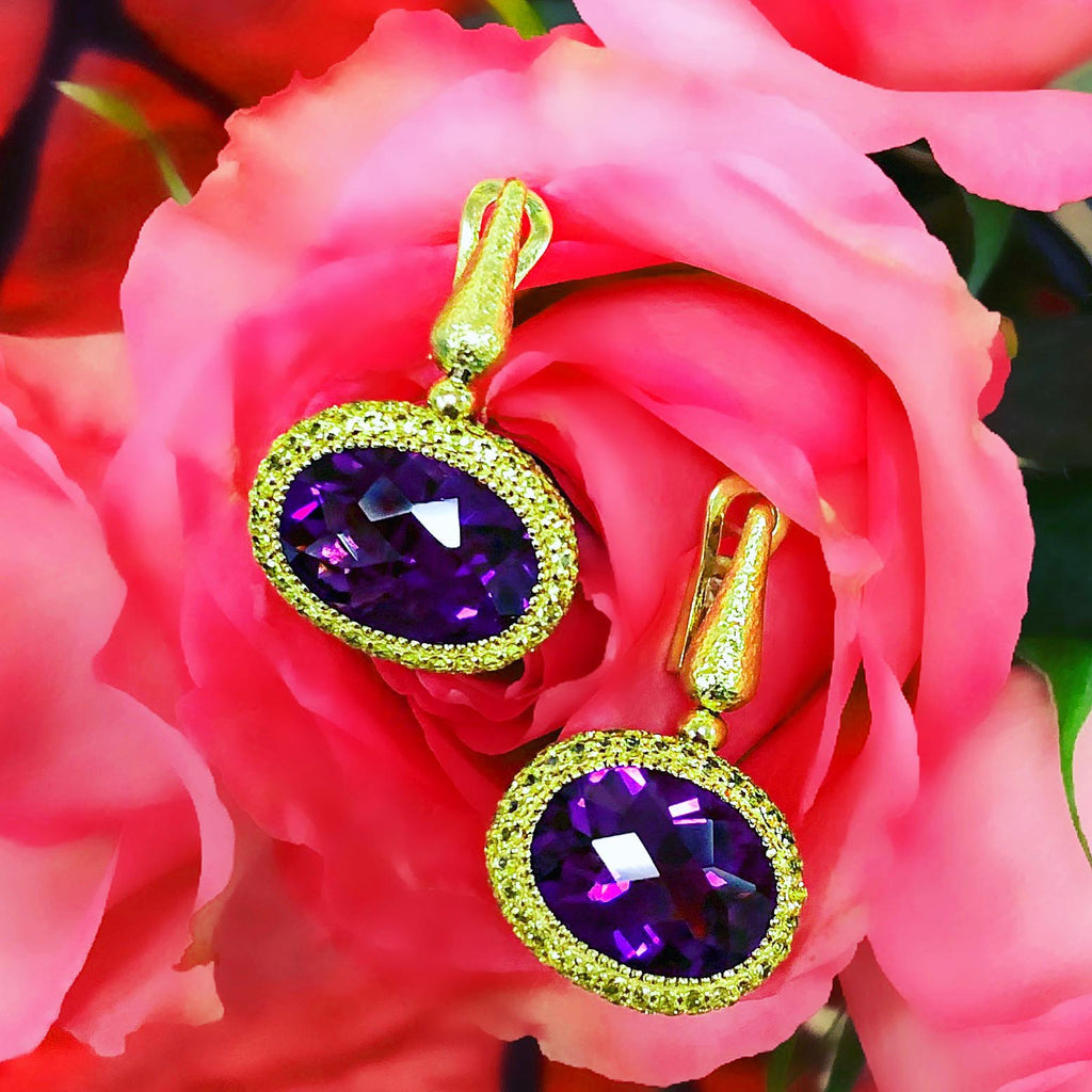Alex Soldier Amethyst Cocktail Earrings
