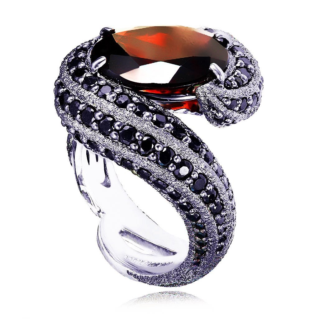 Alex Soldier Garnet Twist Ring