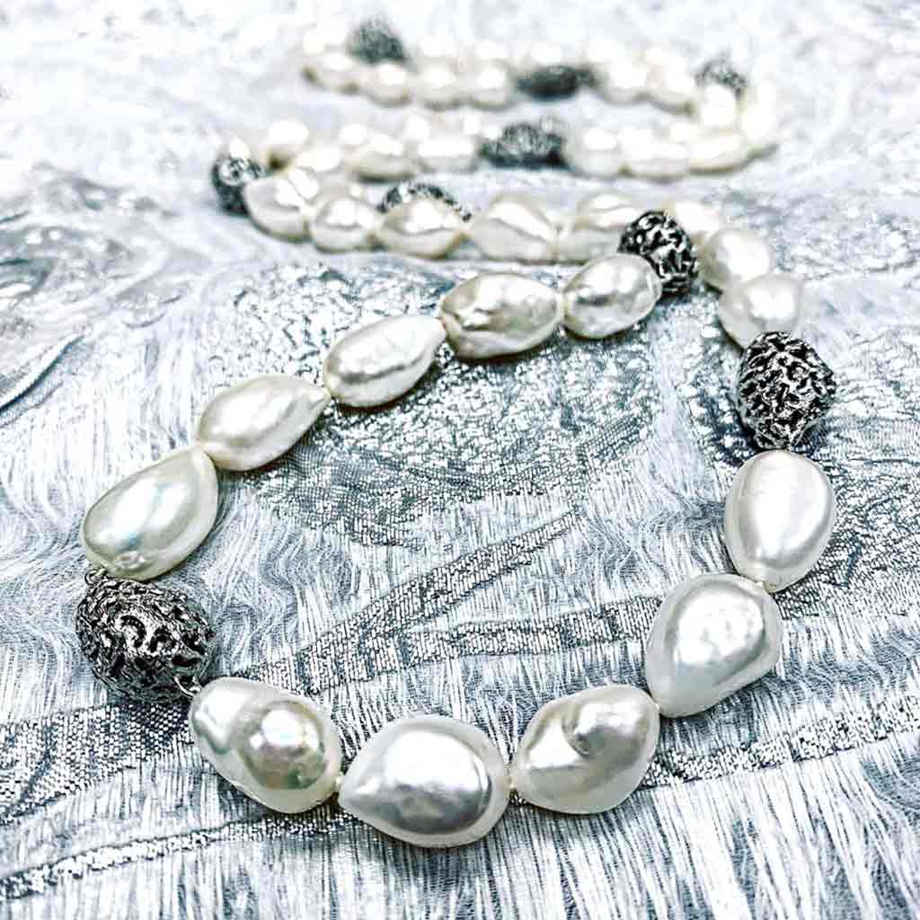 Alex Soldier Pearl Meteorite Necklace