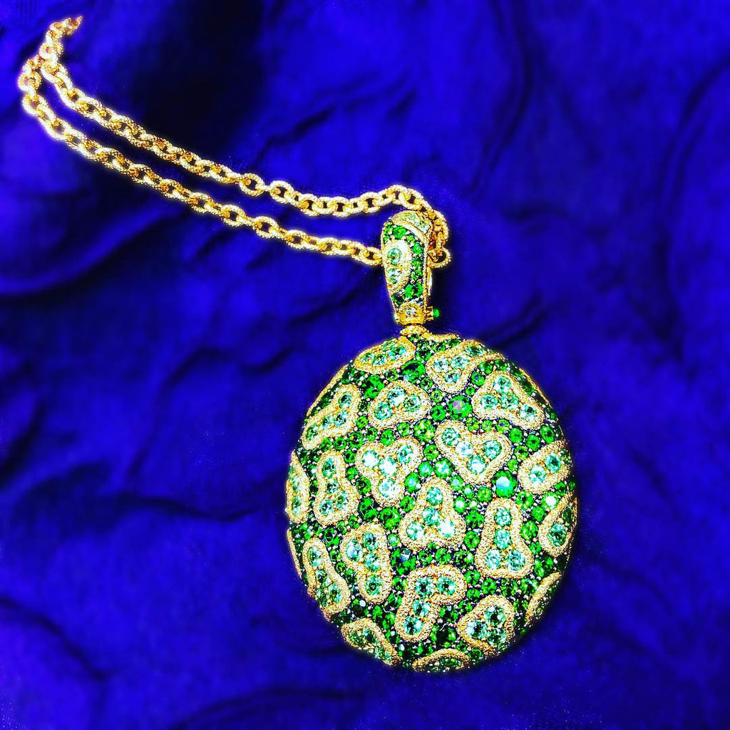 Alex Soldier Tsavorite Fine Lace Necklace
