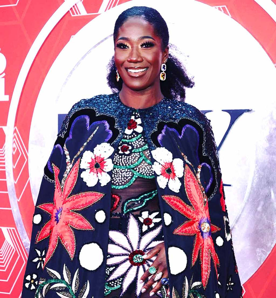 Amber Iman in Alex Soldier jewels at 2021 TONY AWARDS
