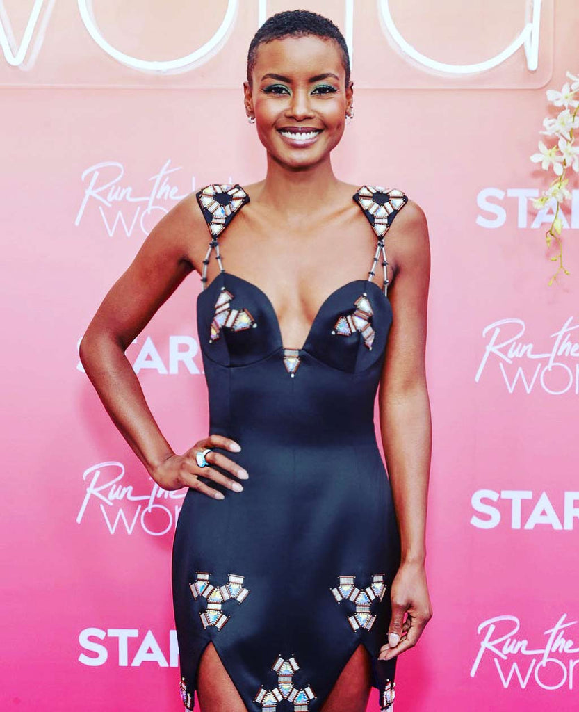 Andrea Bordeaux sparkles in Alex Soldier jewels at Run The World premiere!