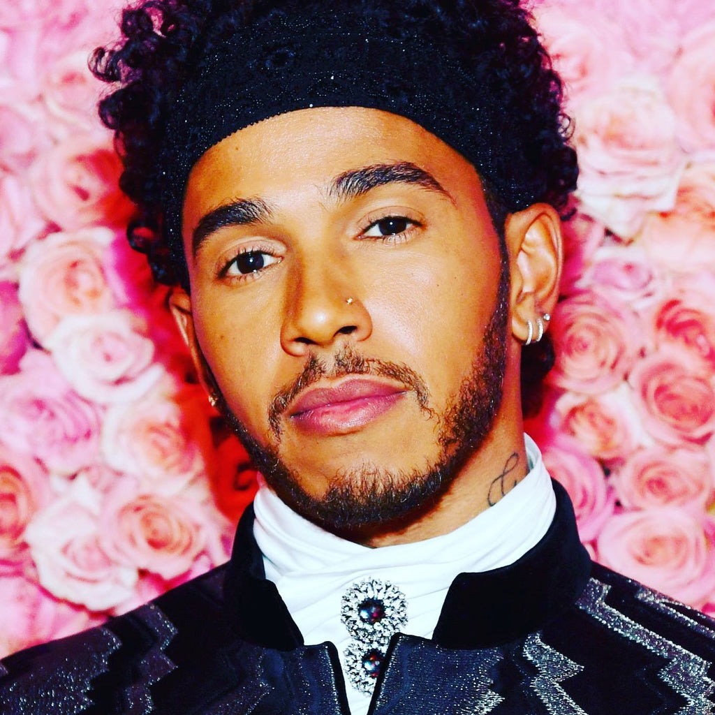 Lewis Hamilton rocks Alex Soldier's custom-made Astra pins at the 2019 Met Gala