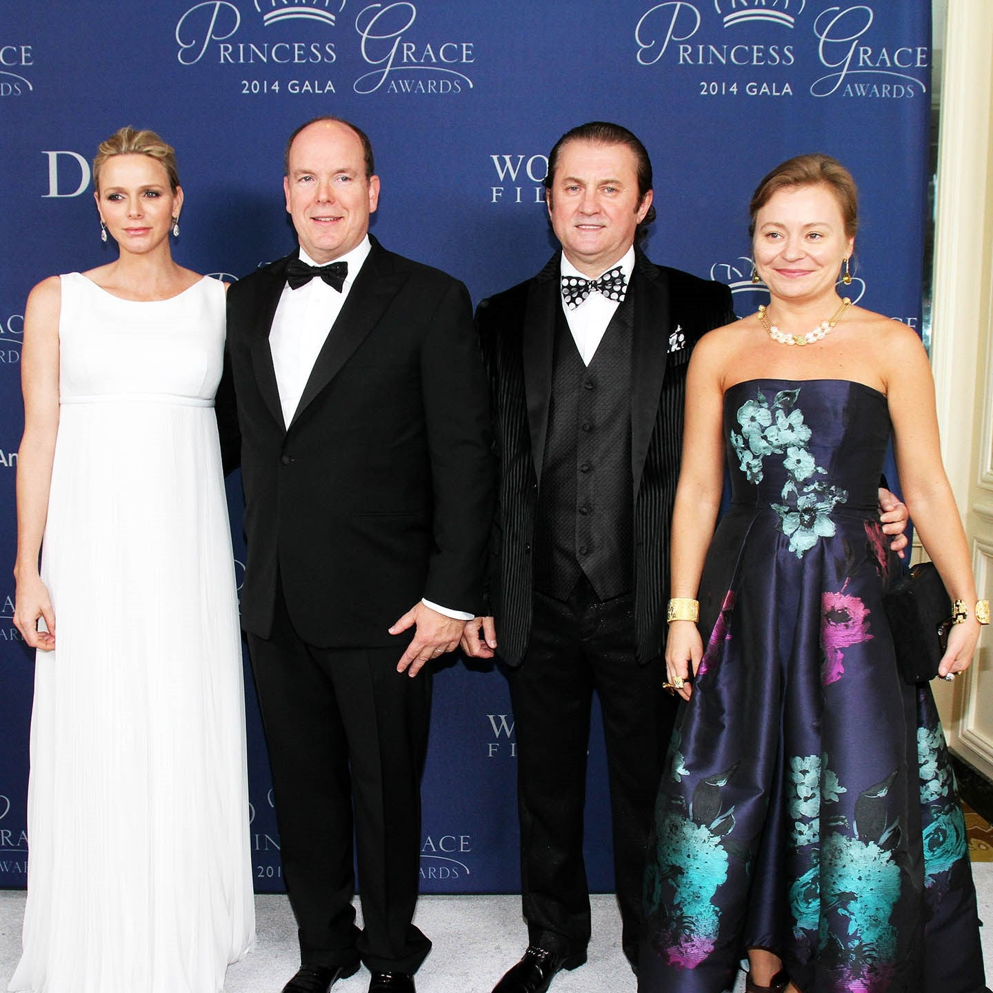 HSH PRINCE AND PRINCESS OF MONACO WITH ALEX & MARIA SOLDIER