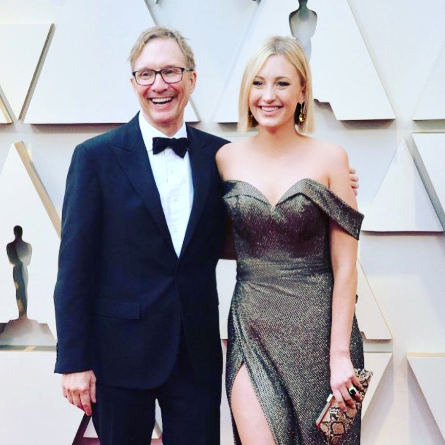 Green Book producer Jim Burke arrives at the 2019 Academy Awards with his lovely daughter Madelyn