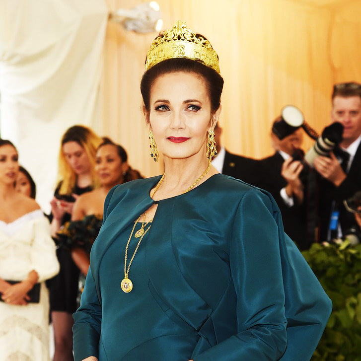 Lynda Carter Shines In Alex Soldier At The Met Gala