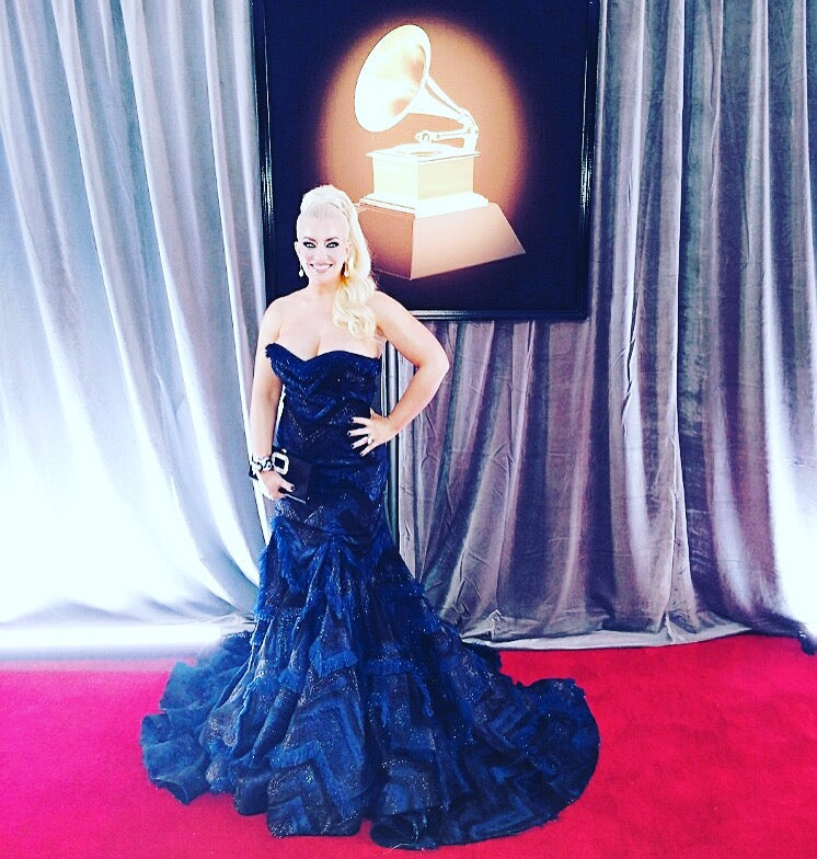 Mela Sarajane Dailey In Alex Soldier at Grammys