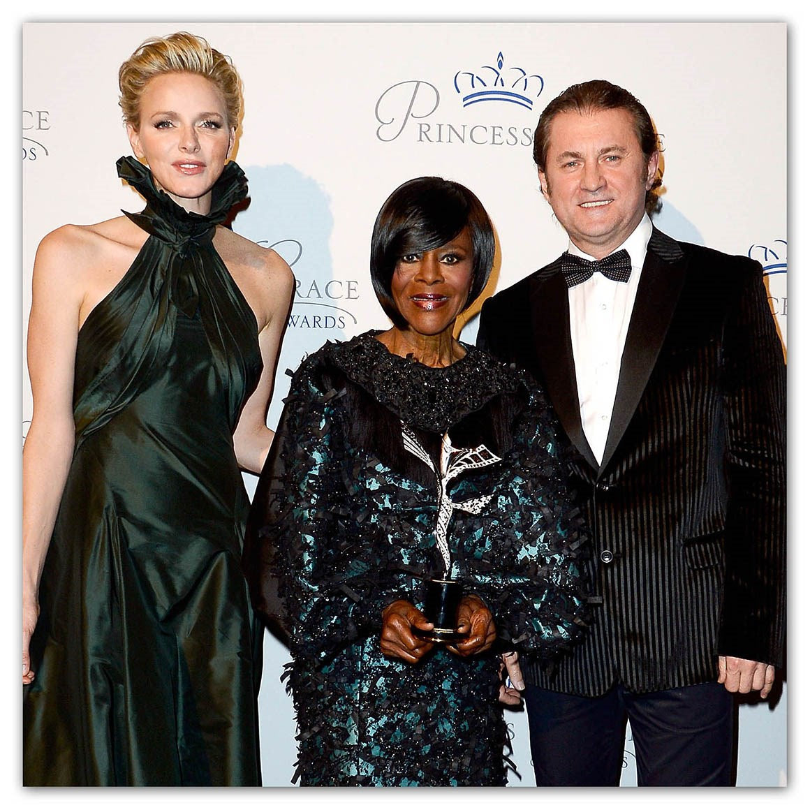 PRINCESS CHARLENE OF MONACO AND ALEX SOLDIER PRESENT CICELY TYSON