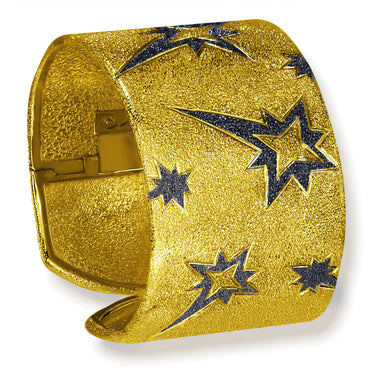 Sterling Silver Gold Star Cuff