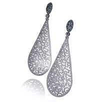 Silver Festive Drop Earrings with White Topaz