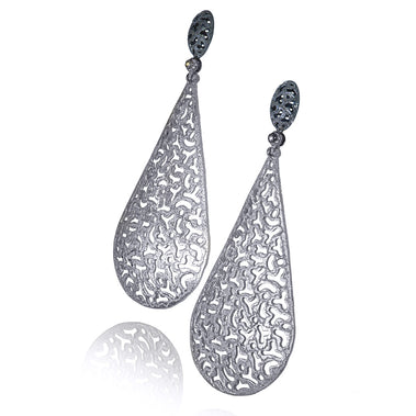 Sterling Silver Festive Drop Earrings with White Topaz