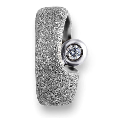 Diamond White Gold Modern Art Ring