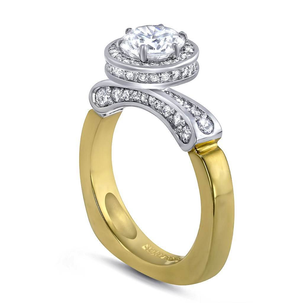 Serendipity Diamond Halo Engagement Ring