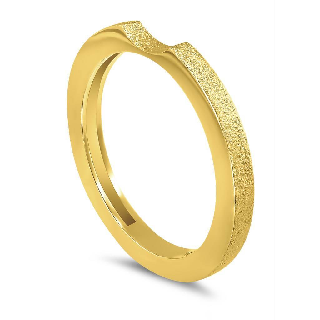 Princess Stackable Wedding Band With Sand Texture