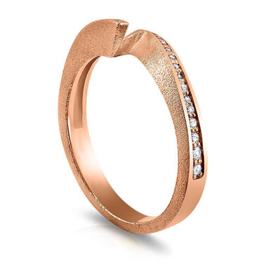 Dance Of Life Diamond Front Wedding Band