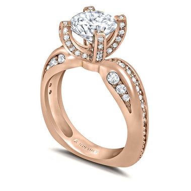 Modern Sensuality Diamond Crown Grace Engagement Ring