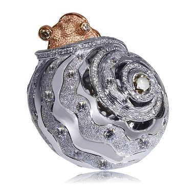 Codi The Snail In White And Rose Gold