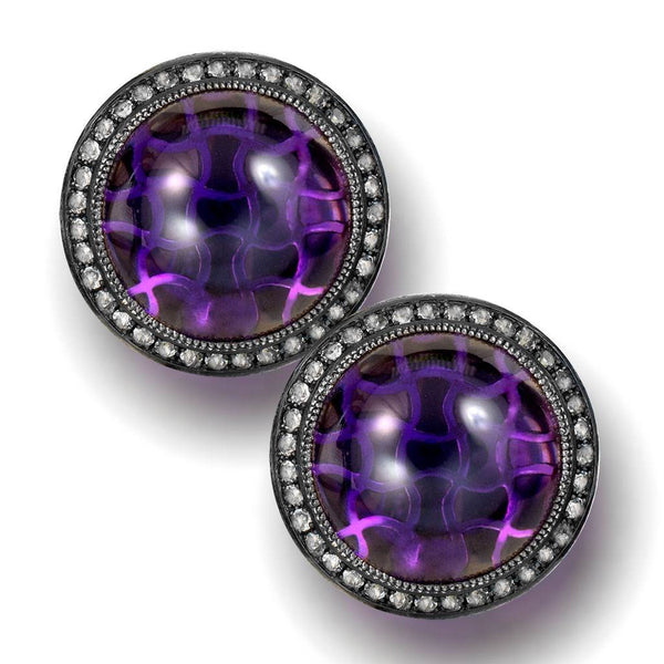 Silver Symbolica Clip-On Earring with Japanese Amethyst