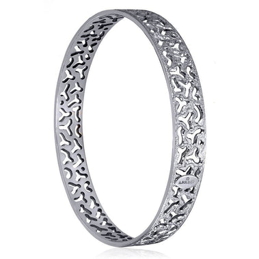 Sterling Silver And Platinum Bangle Bracelet