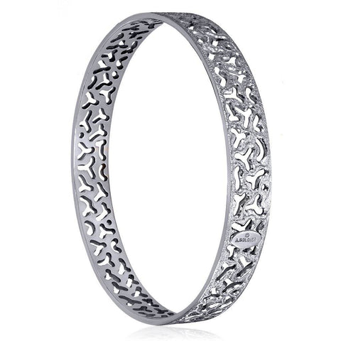 Sterling Silver and Platinum Bangle