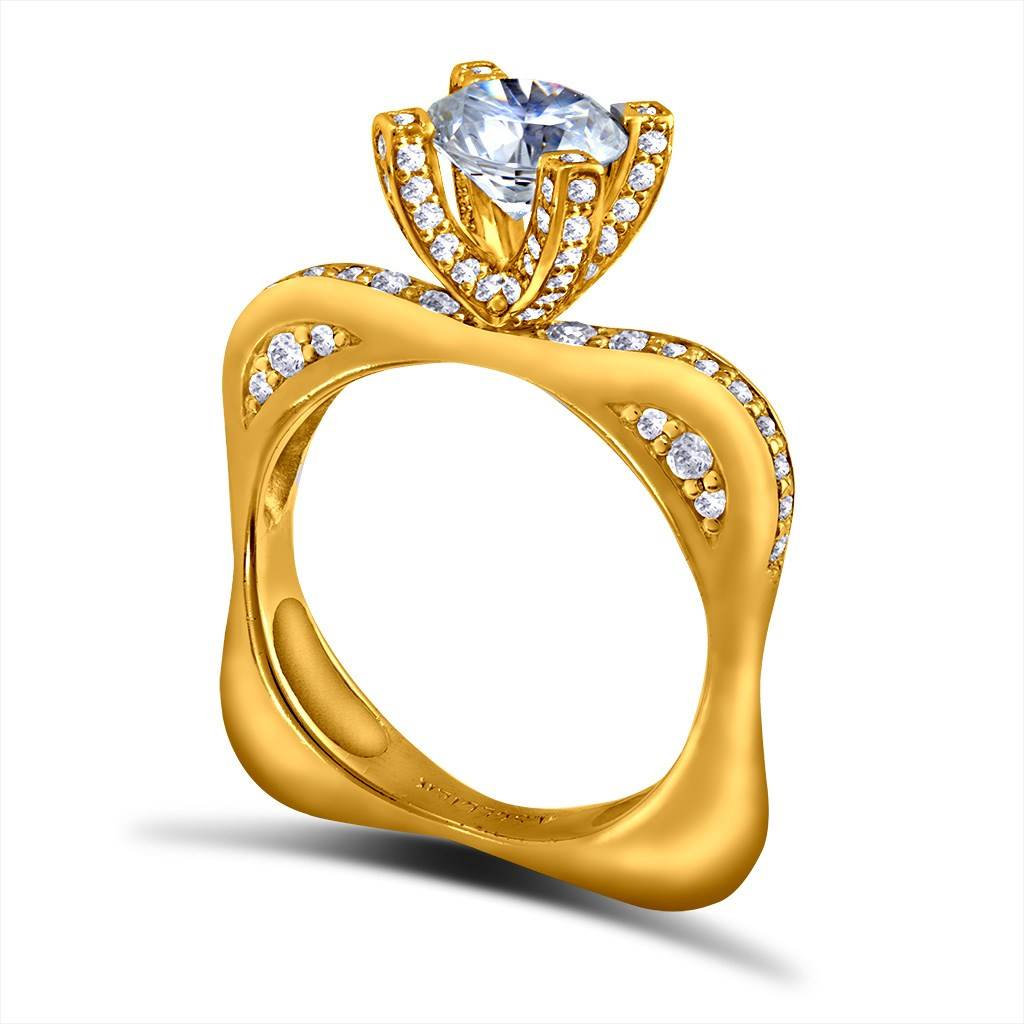 MODERN SENSUALITY ENGAGEMENT RING