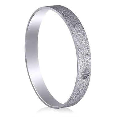 Sterling Silver And Platinum Cora Bangle Bracelet