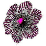 RUBELLITE TOURMALINE, RUBY, AND DIAMOND CORONARIA RING IN WHITE GOLD