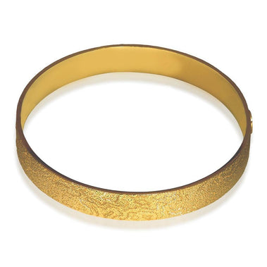 Sterling Silver And Gold Cora Bangle Bracelet