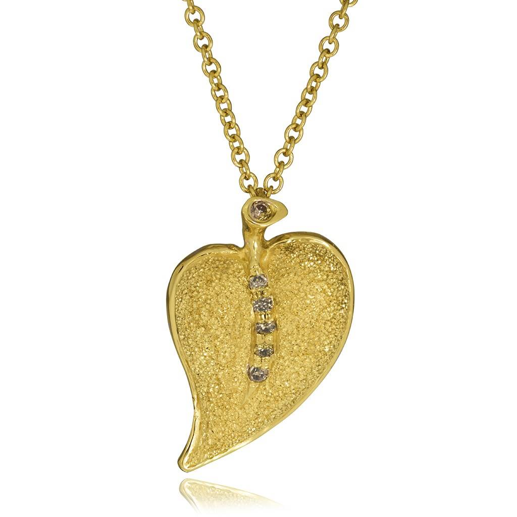 product pendant heather francesca gold cl in leaf s necklace do
