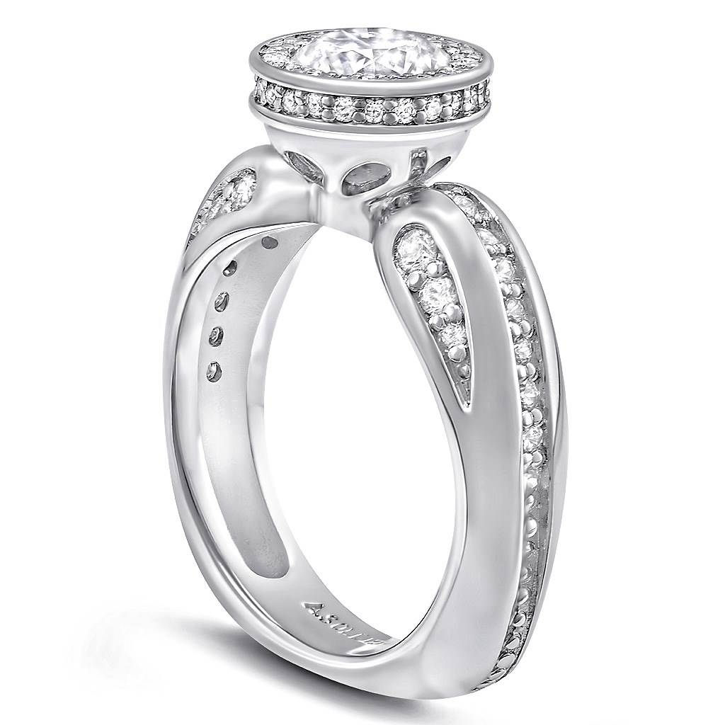 Modern Sensuality Diamond Halo Grace Engagement Ring