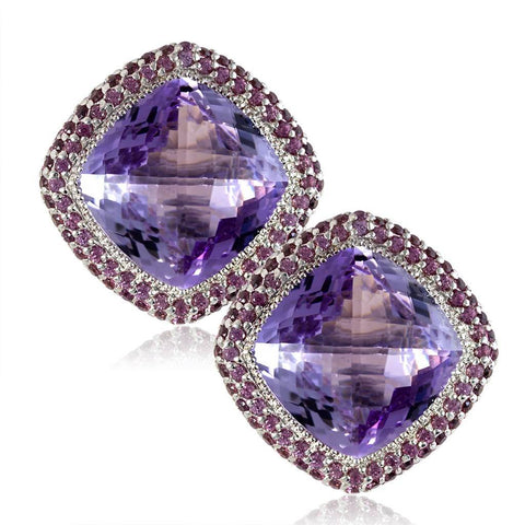 karat earrings jewelry normal in classic nudo pink product lyst metallic gold de rose pomellato amethyst france