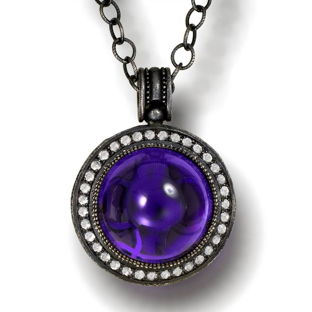 Silver Symbolica Pendant with Japanese Amethyst & Topaz
