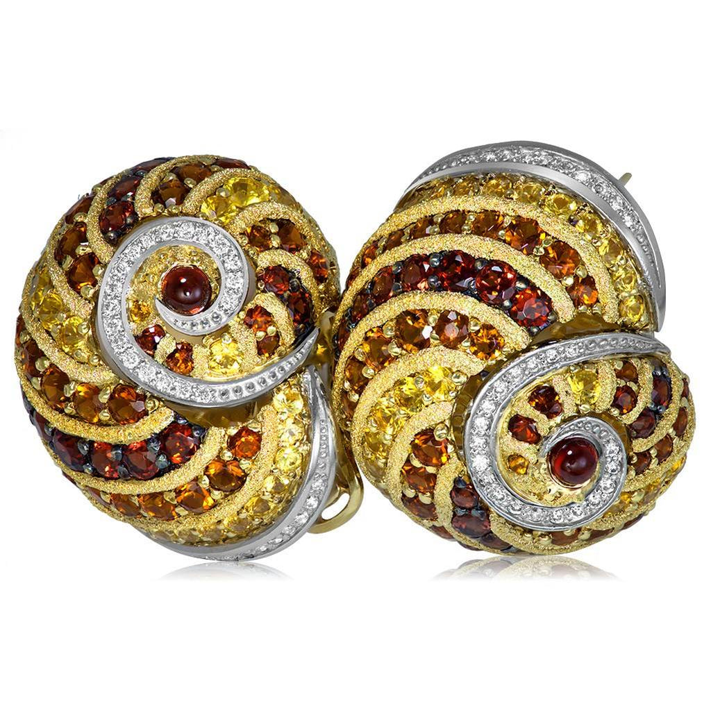 Gold & Platinum Sunny The Snail Earrings